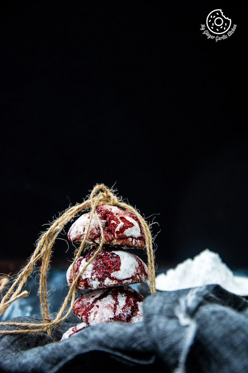 Image of Red Velvet Crinkle Cookies