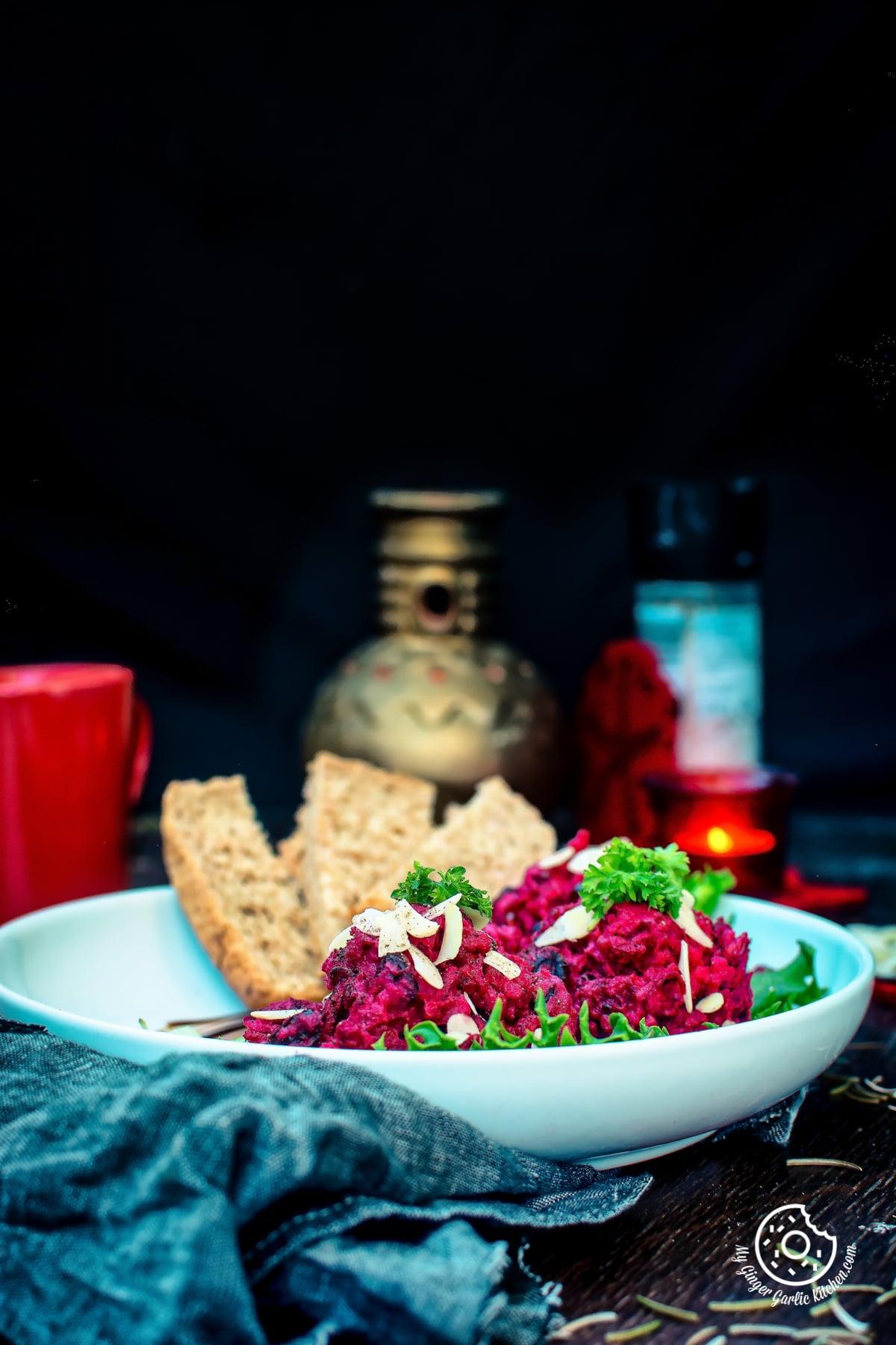 Roasted Beet Potato Holiday Salad | mygingergarlickitchen.com/ @anupama_dreams