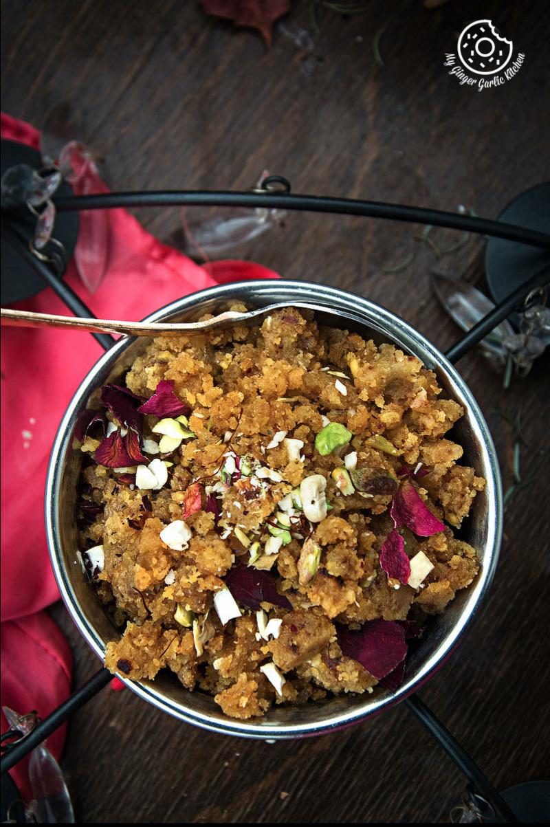 Image - recipes Rajasthani Moong Dal Halwa anupama paliwal my ginger garlic kitchen Pinterest 1