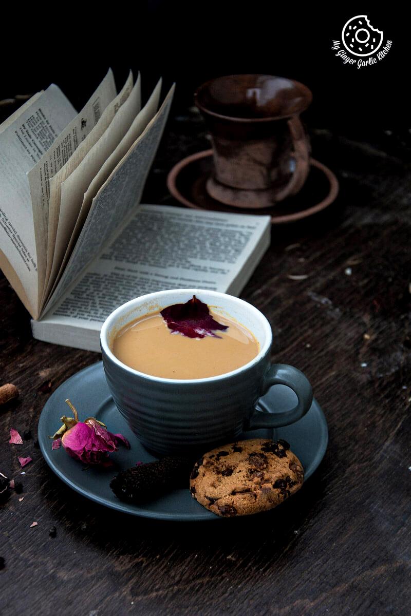 Rose Masala Chai | mygingergarlickitchen.com/ @anupama_dreams