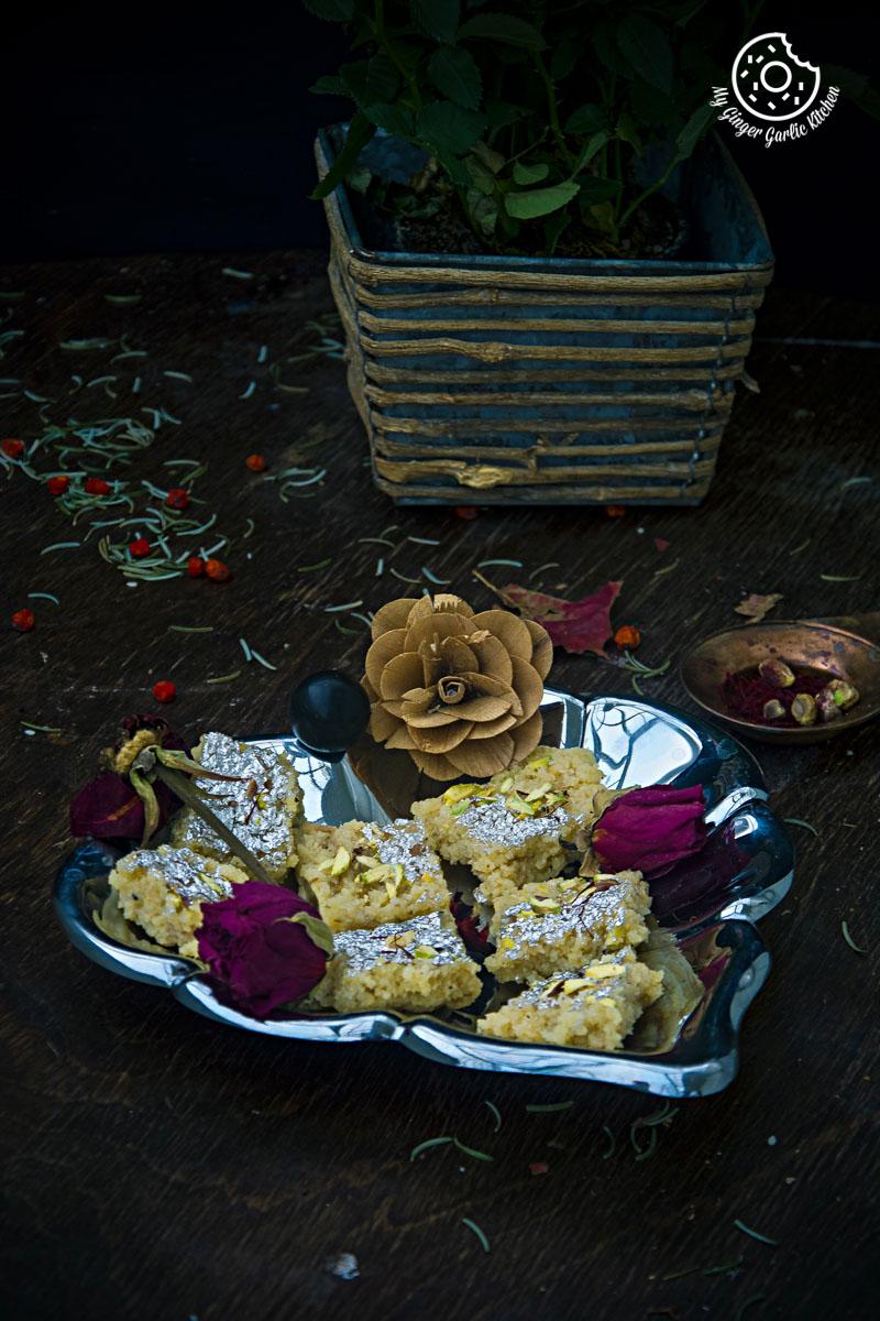 Kopra Pak | Nariyal Ki Burfi | mygingergarlickitchen.com/ @anupama_dreams