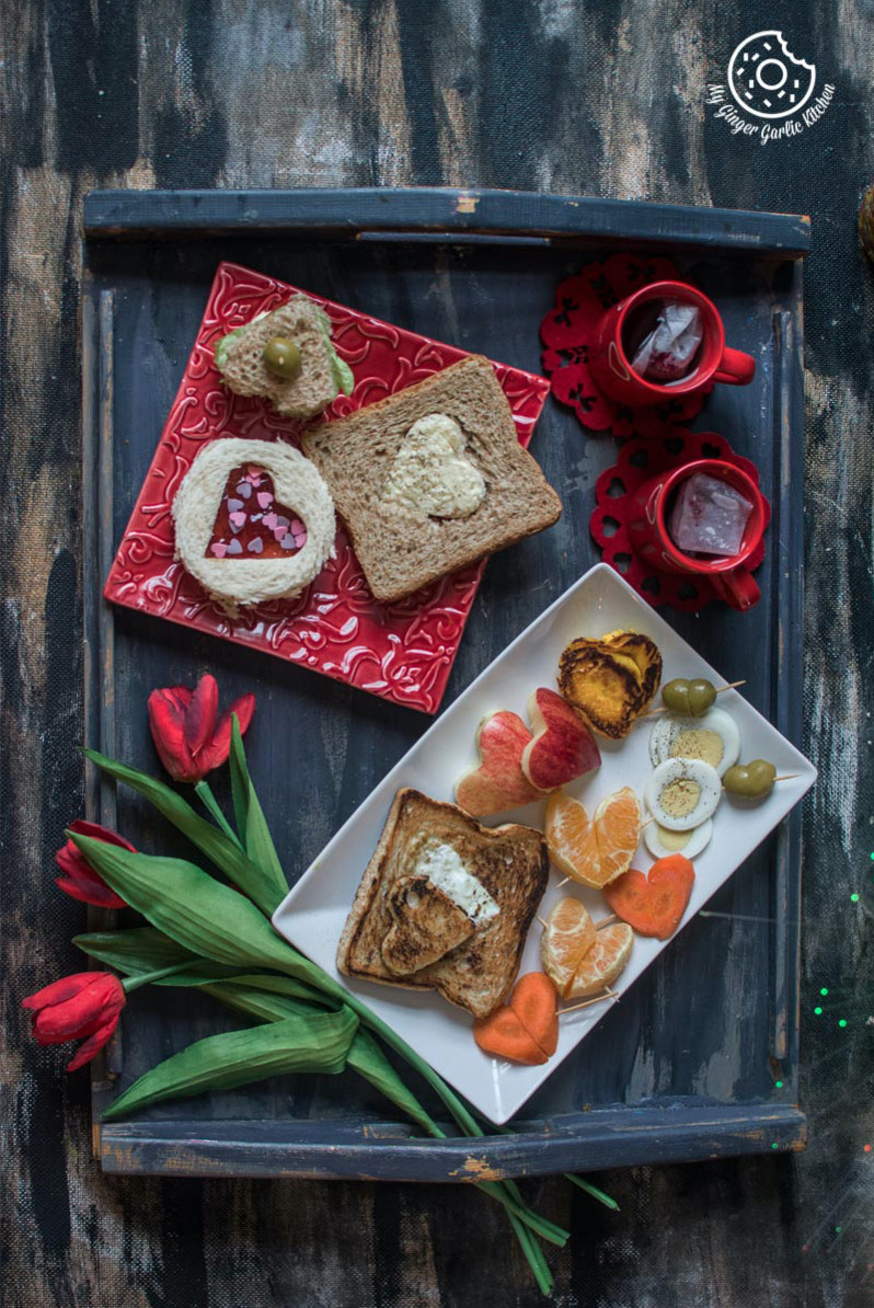 Valentine's Day Breakfast Ideas | mygingergarlickitchen.com/ @anupama_dreams