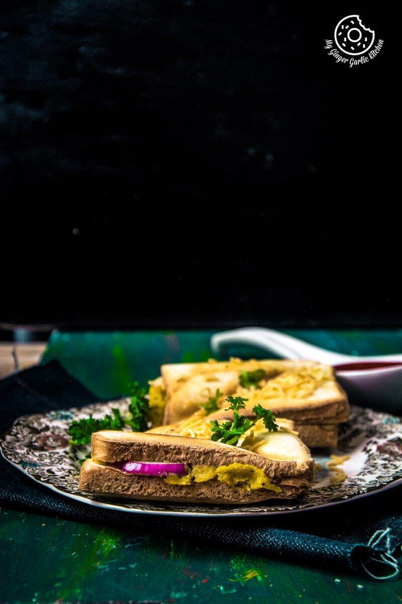 Bombay Masala Toast | How To Make Masala Toast | mygingergarlickitchen.com/ @anupama_dreams