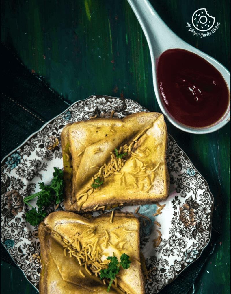 Bombay Masala Toast   How To Make Masala Toast   mygingergarlickitchen.com/ @anupama_dreams