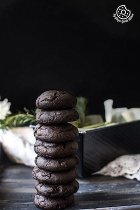 Image of Eggless Triple Chocolate Cookies Recipe