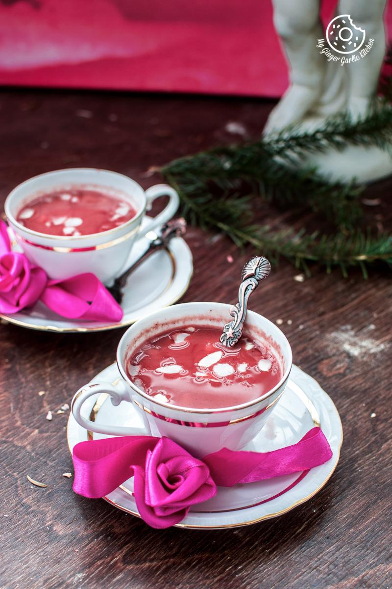 Image - recipes Kashmiri Pink Chai Noon Chai anupama paliwal my ginger garlic kitchen 3