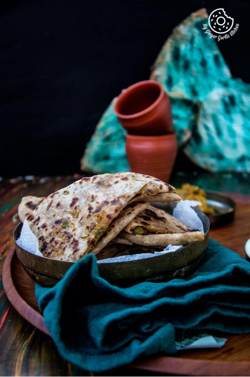 Image - recipes cabbage peas paratha anupama paliwal my ginger garlic kitchen Pinterest