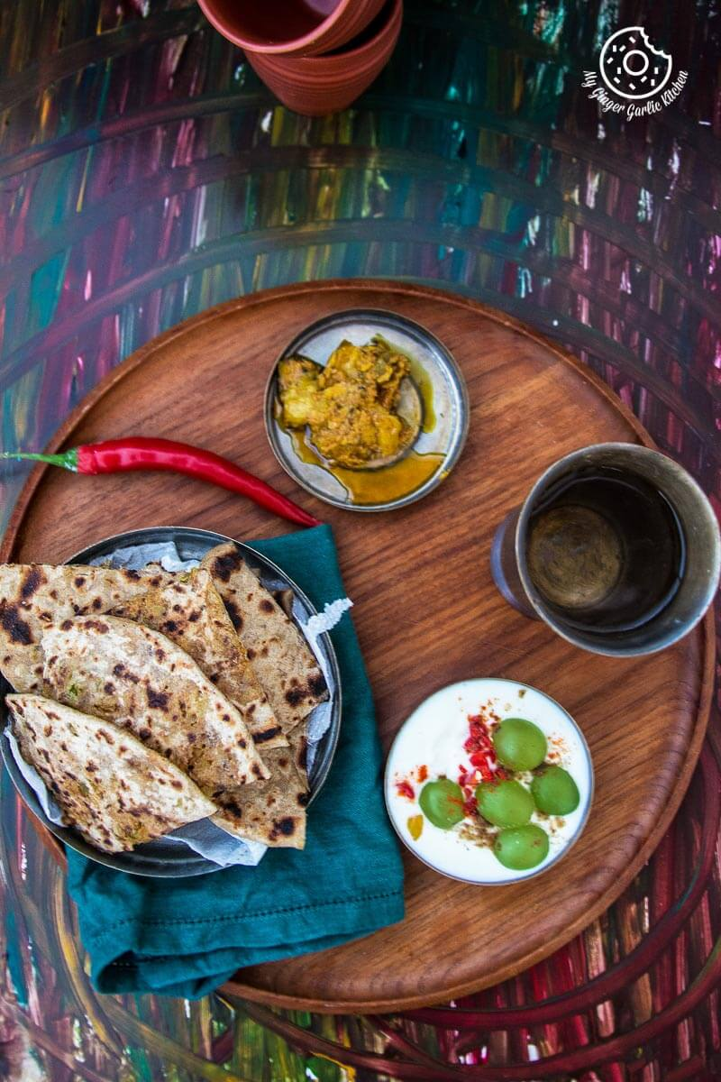 Cabbage Peas Stuffed Paratha | Patta Gobi Ka Paratha | mygingergarlickitchen.com/ @anupama_dreams