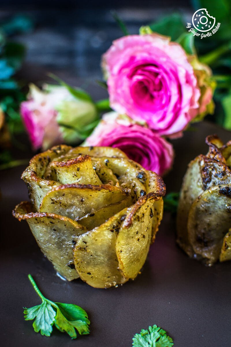 Potato Roses | Potato Gratins | mygingergarlickitchen.com/ @anupama_dreams