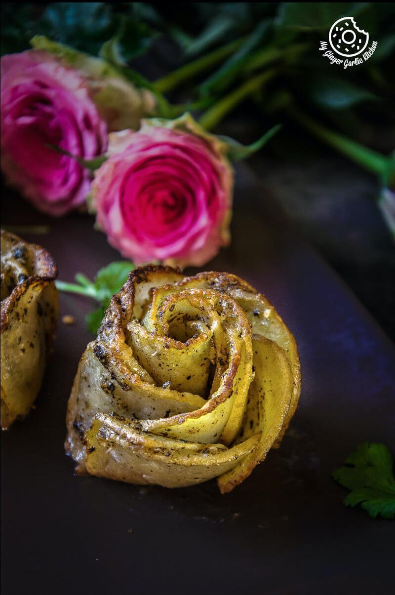 Potato Roses   Potato Gratins   mygingergarlickitchen.com/ @anupama_dreams