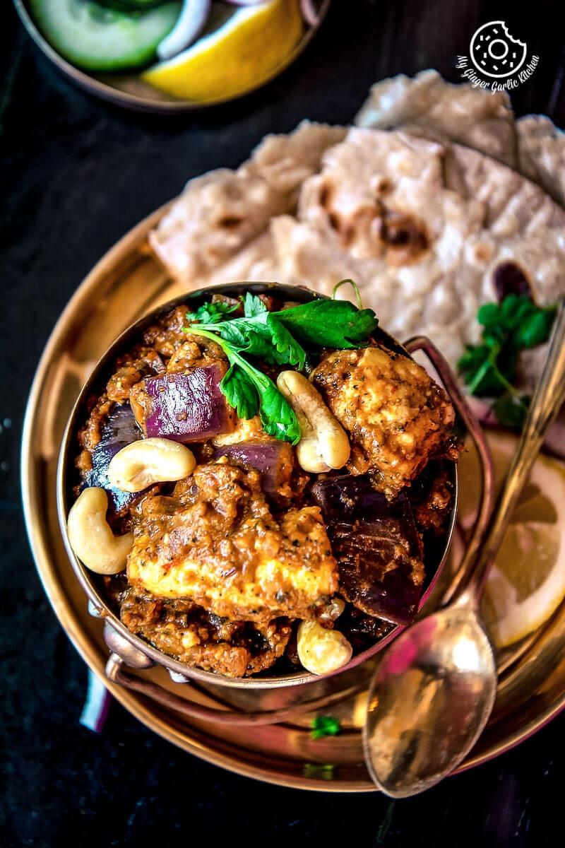Restaurant Style Paneer Do Pyaza   mygingergarlickitchen.com/ @anupama_dreams
