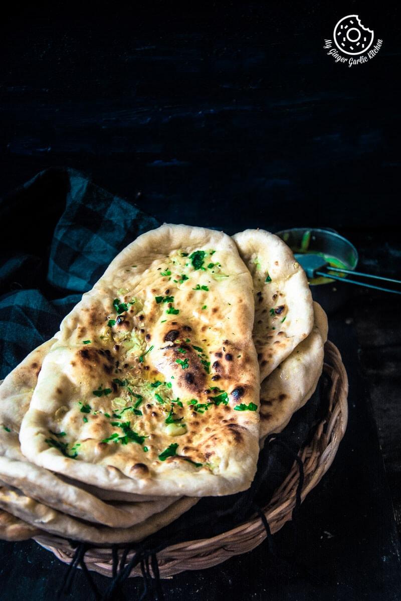 Restaurant Style Indian Garlic Naan - 3 Ways | mygingergarlickitchen.com/ @anupama_dreams