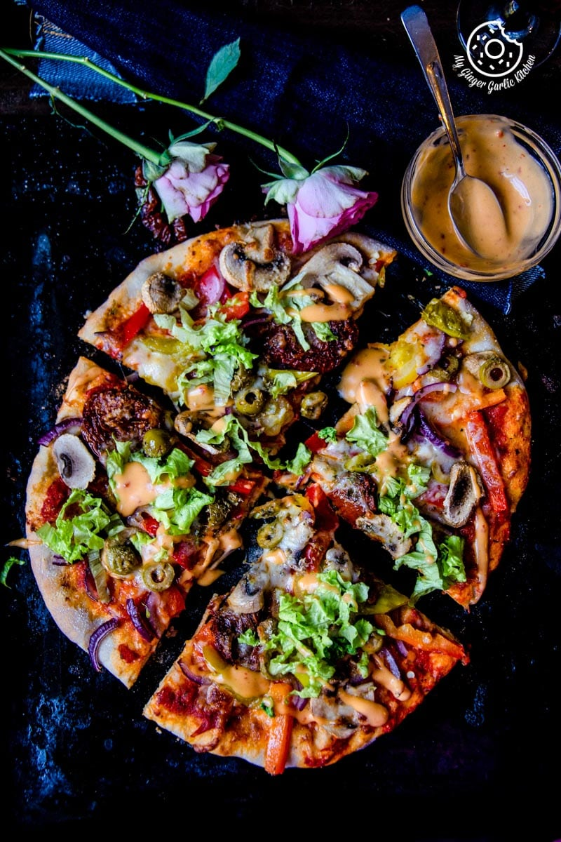 Image of Perfect Vegetarian Pizza from Scratch