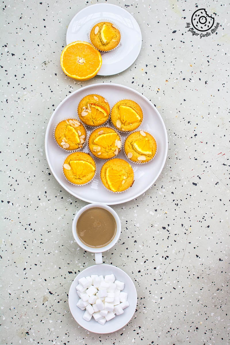 Eggless Orange Olive Oil Muffins | mygingergarlickitchen.com/ @anupama_dreams