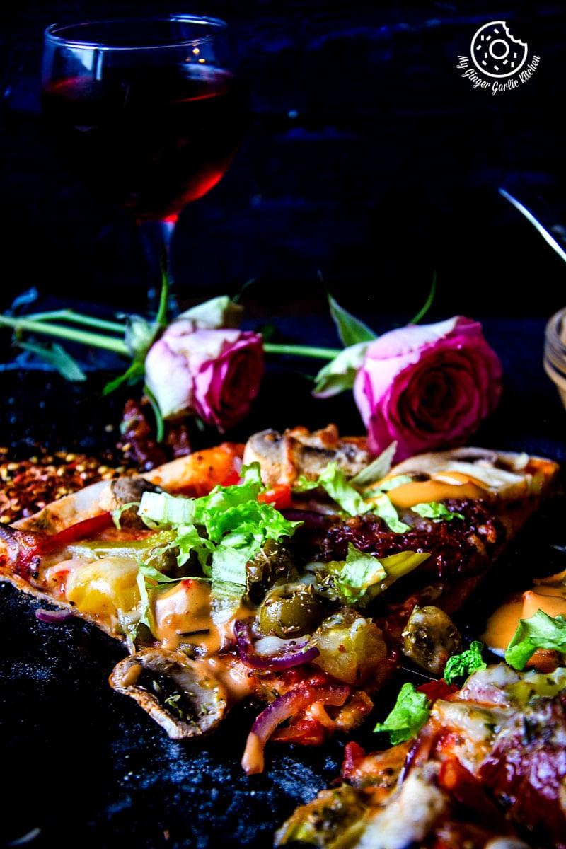 How To Make Perfect Vegetarian Pizza | mygingergarlickitchen.com/ @anupama_dreams