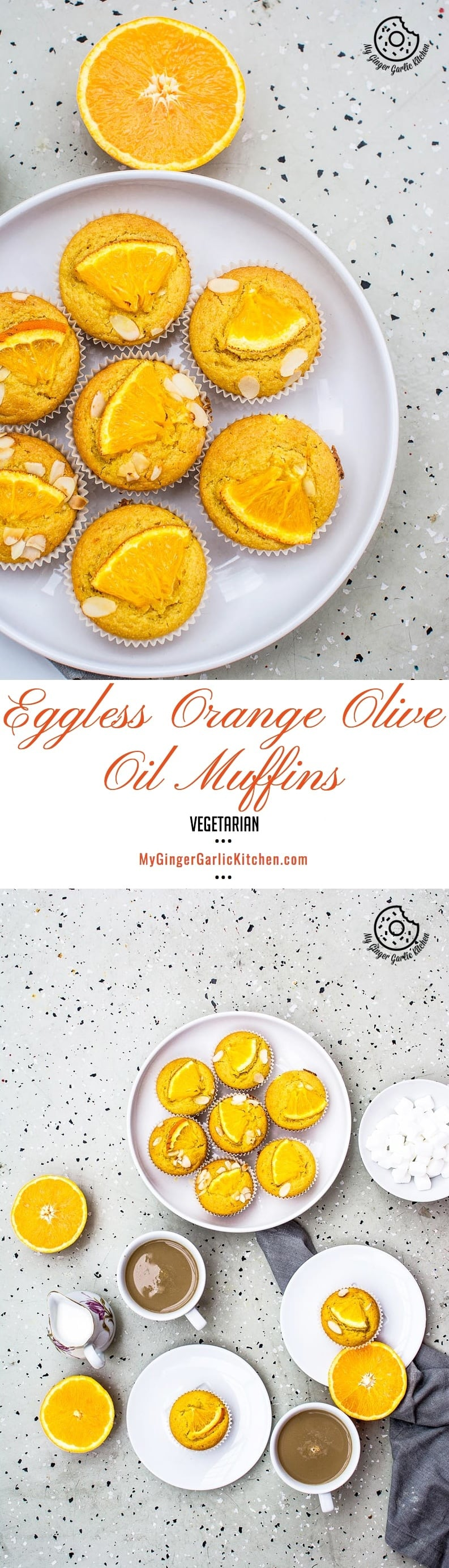 Eggless Orange Olive Oil Muffins   mygingergarlickitchen.com/ @anupama_dreams