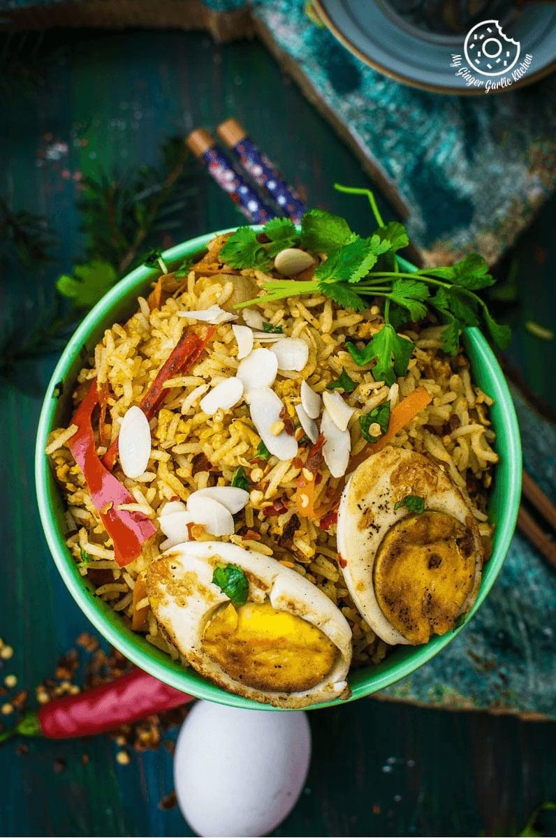 Image - indian style triple egg fried rice Pinterest