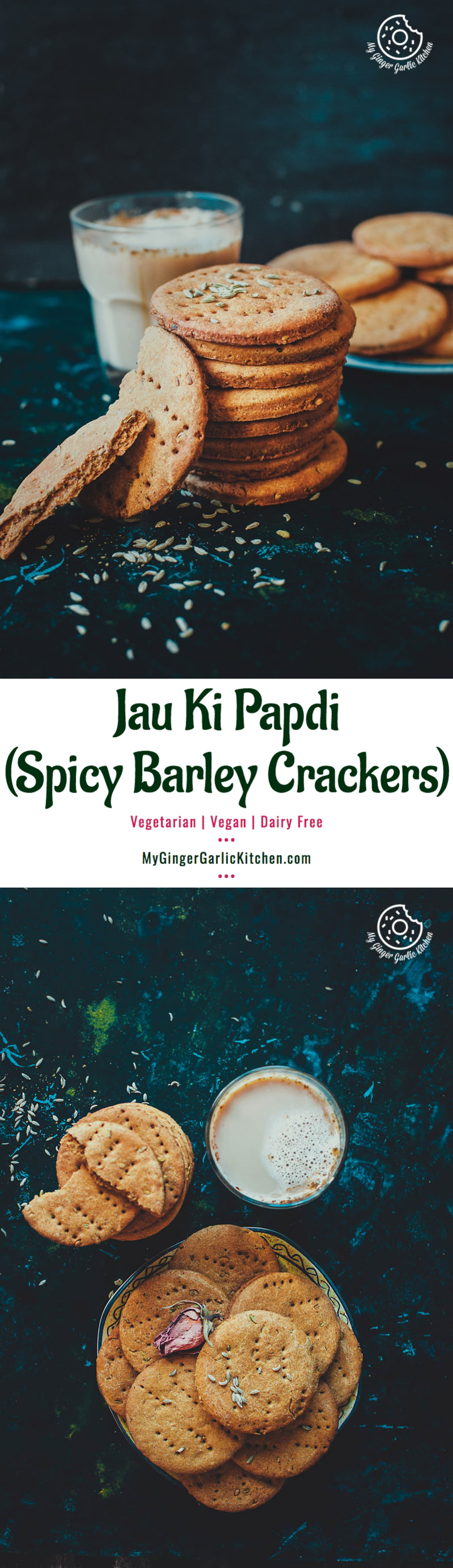 Masaledar Jau Ki Papdi   Spicy Barley Crackers   Black Chickpeas Chaat   mygingergarlickitchen.com/ @anupama_dreams