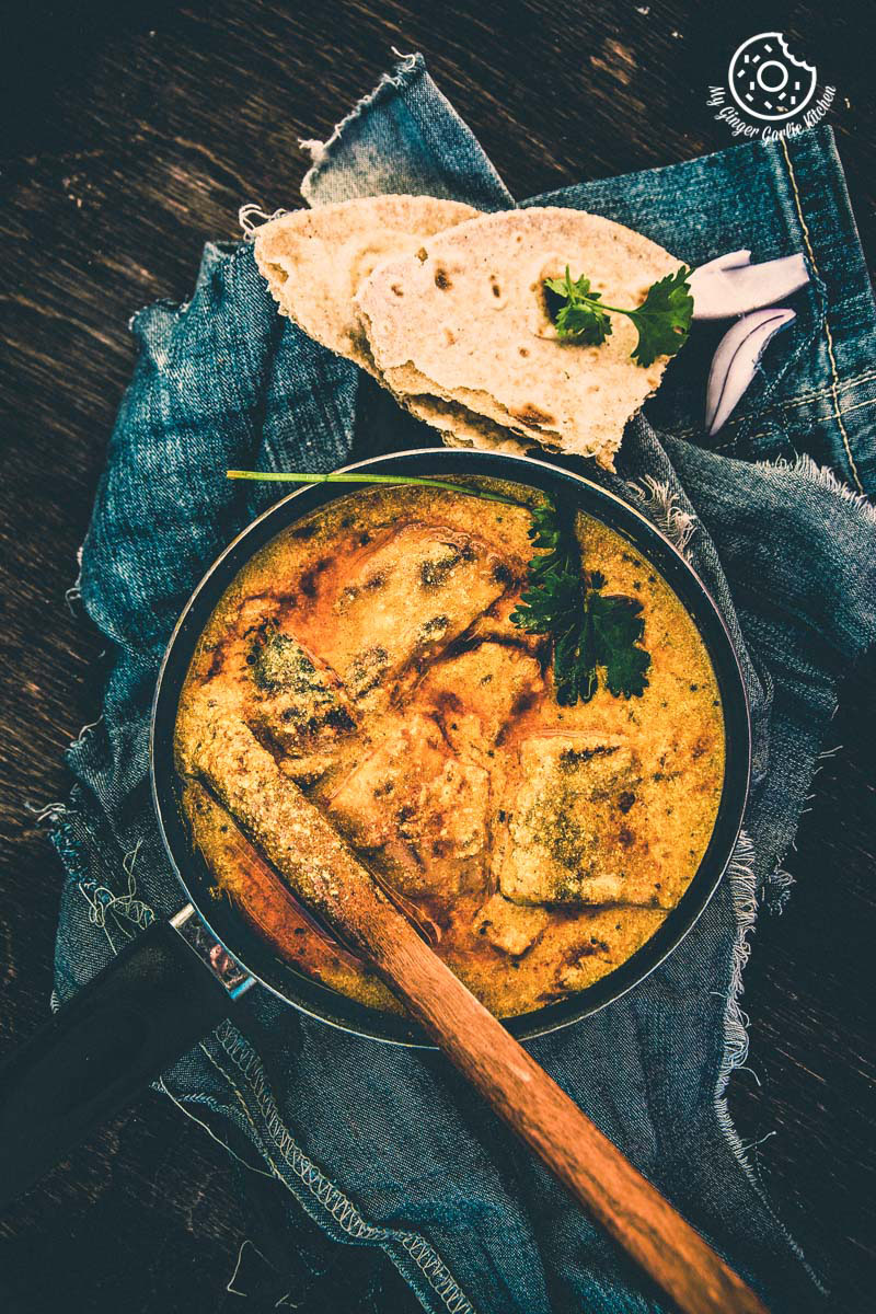 Rajashthani Besan Ke Cheele Ki Sabzi | Chickpea Pancake Curry | mygingergarlickitchen.com/ @anupama_dreams