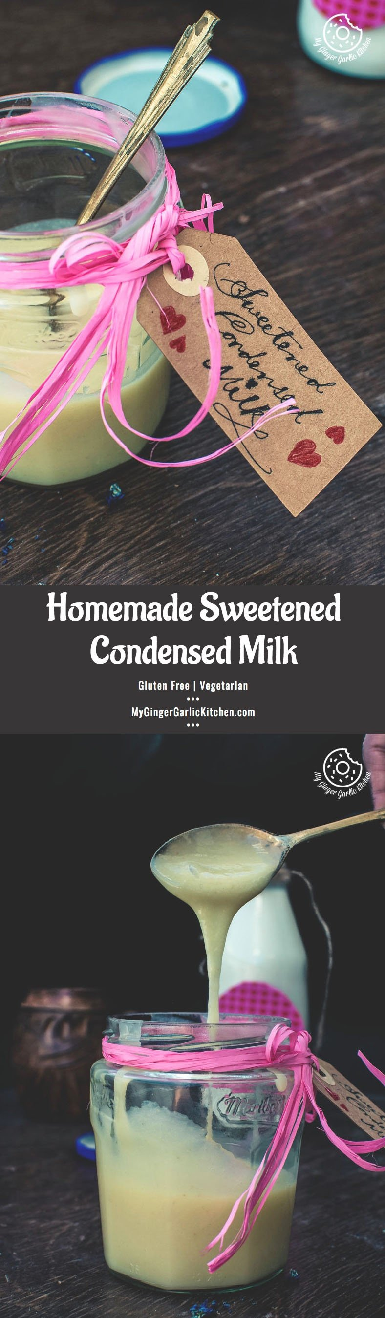 Recipe Homemade Sweetened Condensed Milk | mygingergarlickitchen.com/ @anupama_dreams
