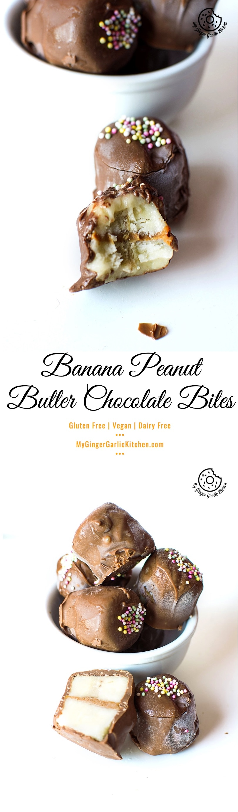 Banana Peanut Butter Chocolate Bites | Yogurt Kebab | Dahi Kebab | mygingergarlickitchen.com/ @anupama_dreams