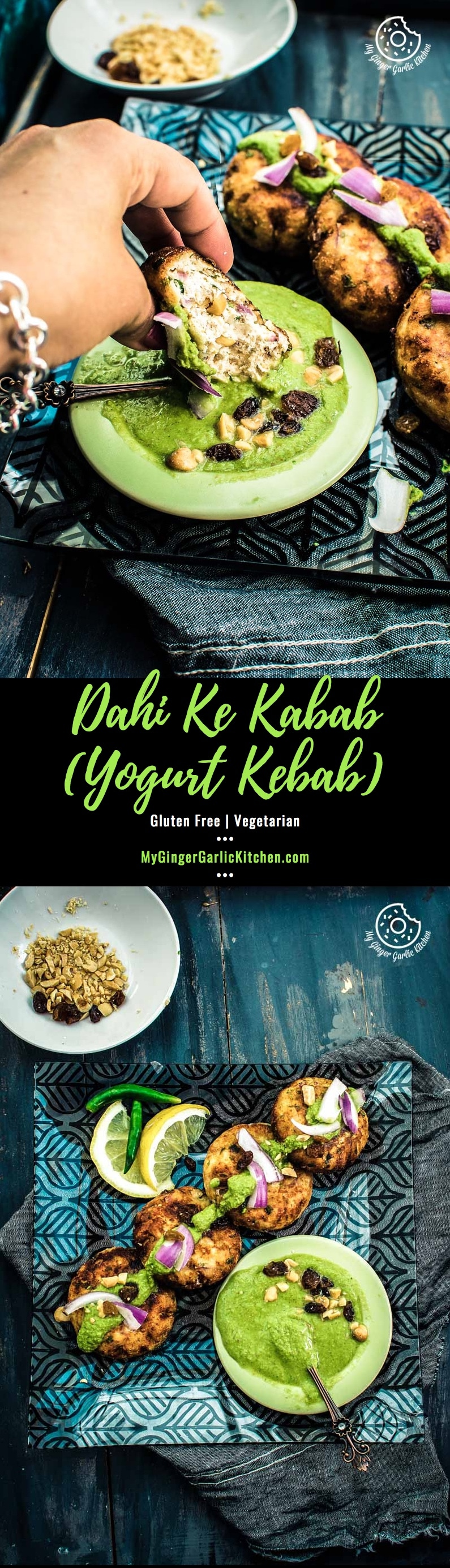 How To Make Dahi Ke Kabab | Yogurt Kebab | Dahi Kebab | mygingergarlickitchen.com/ @anupama_dreams