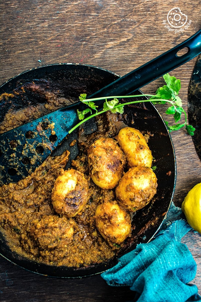 Lehsuni Dum Aloo | Spicy Garlicky Potatoes | mygingergarlickitchen.com/ @anupama_dreams