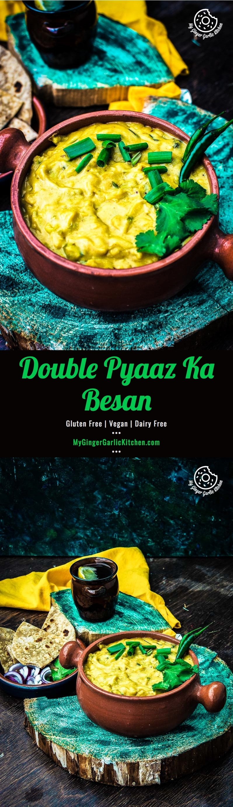 How To Make Double Pyaaz Ka Besan | Besan Ki Sabji | mygingergarlickitchen.com/ @anupama_dreams