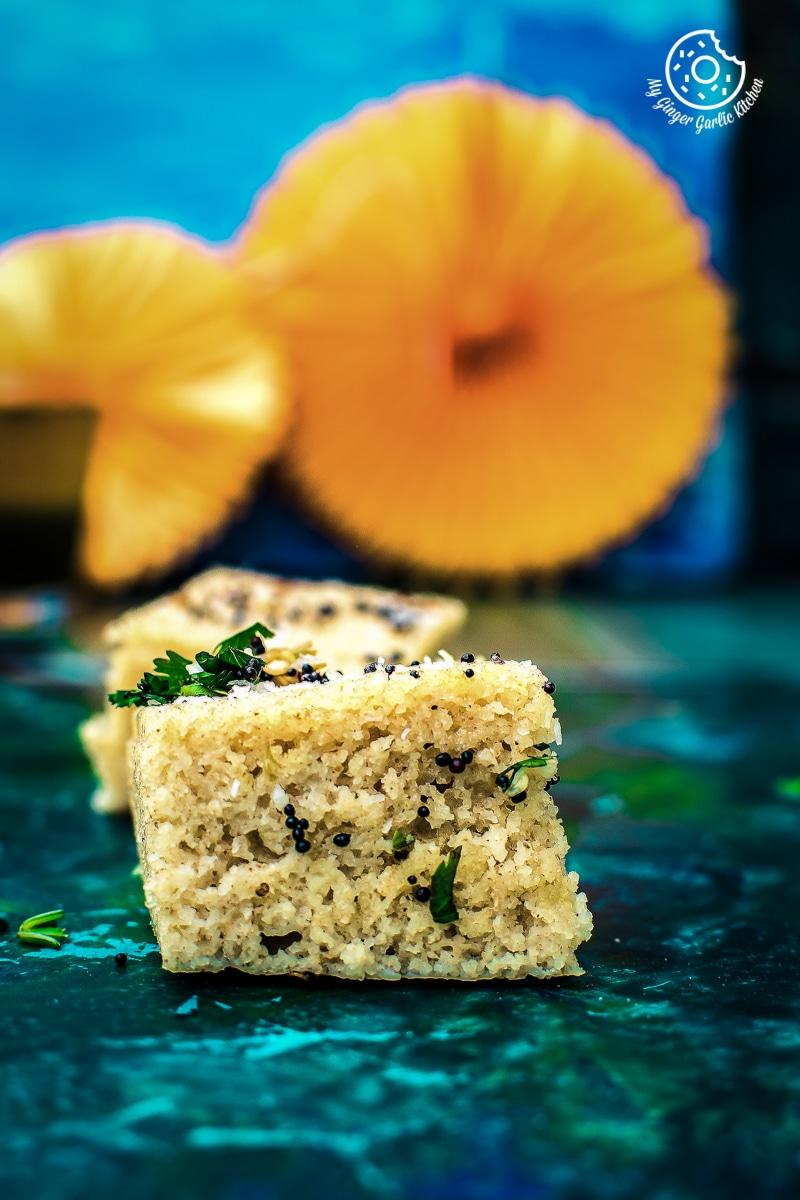 Instant Oats Rava Dhokla | Oats Suji Ka Dhokla | mygingergarlickitchen.com/ @anupama_dreams