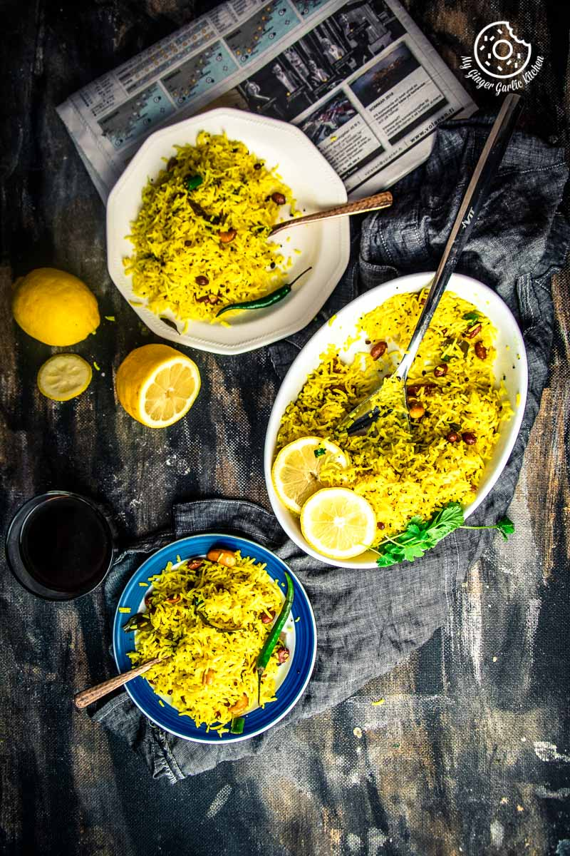 Lemon Rice Recipe | How To Make South Indian Lemon Rice | mygingergarlickitchen.com/ @anupama_dreams
