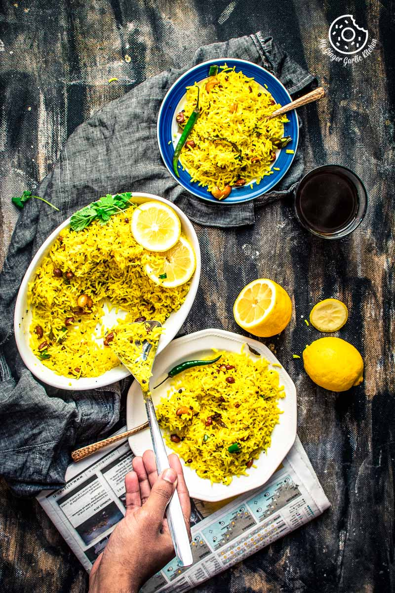 Image of Lemon Rice Recipe | How To Make South Indian Lemon Rice