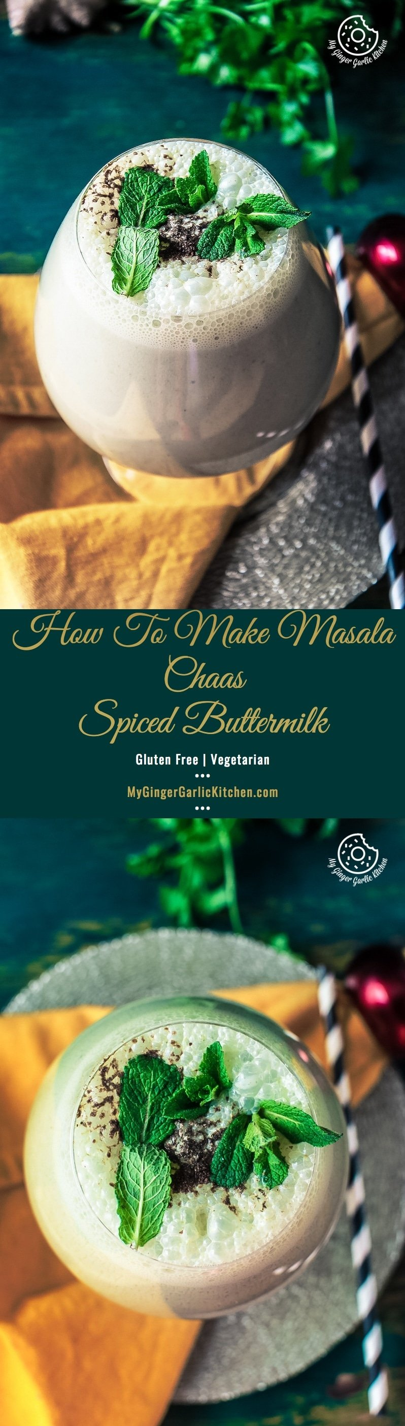 How To Make Masala Chaas | Spiced Buttermilk | mygingergarlickitchen.com/ @anupama_dreams