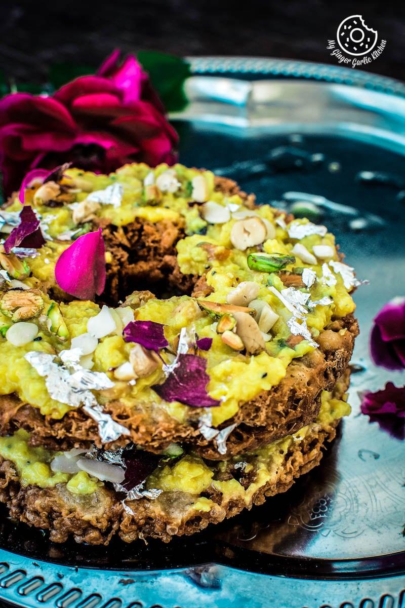 How To Make Ghevar | Jaipuri Malai Ghevar | Ghewar Video Recipe | | Scrambled Paneer | mygingergarlickitchen.com/ @anupama_dreams