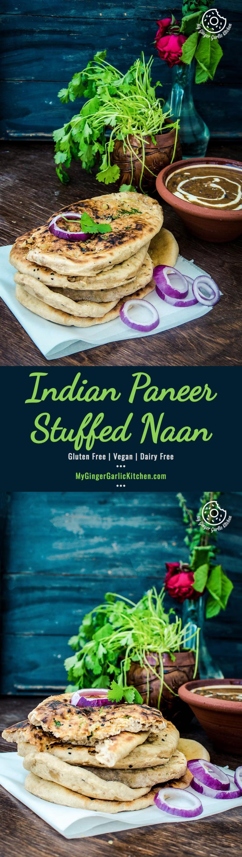 How To Make Indian Paneer Stuffed Naan   mygingergarlickitchen.com/ @anupama_dreams