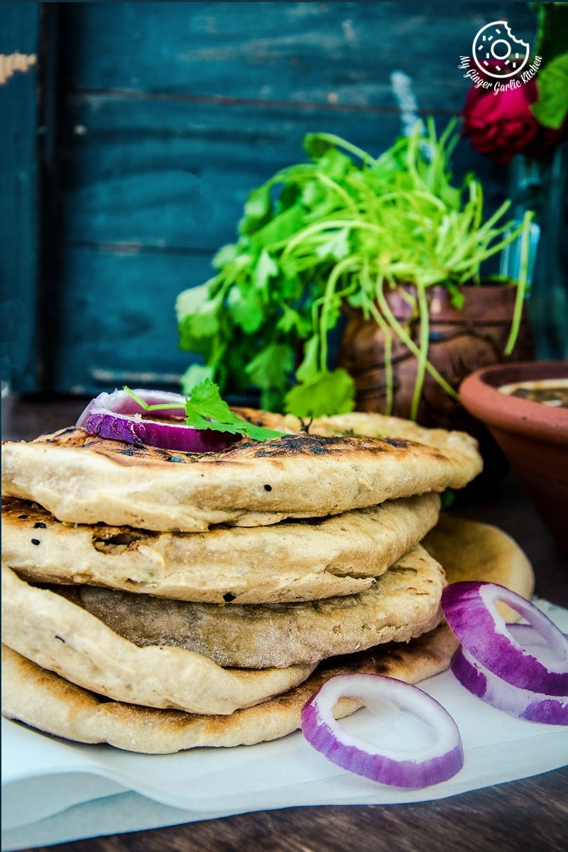 How To Make Indian Paneer Stuffed Naan | mygingergarlickitchen.com/ @anupama_dreams