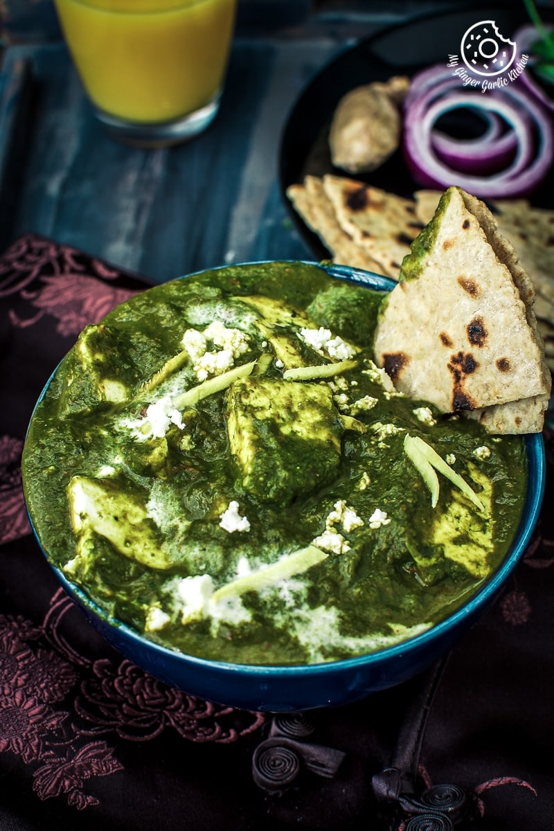 Palak Paneer Recipe | Spinach Indian Cottage Cheese Gravy | mygingergarlickitchen.com/ @anupama_dreams