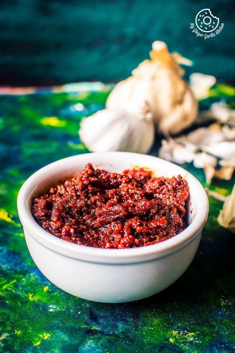 Image of Rajasthani Lehsun Ki Chutney - Garlic Chutney (2 Ways)