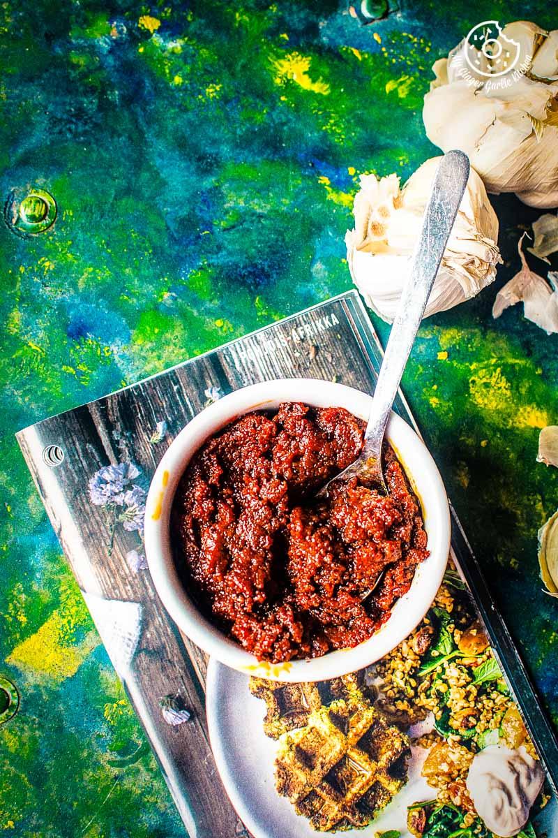 Rajasthani Lehsun Ki Chutney - 2 ways | Garlic Chutney Recipe | mygingergarlickitchen.com/ @anupama_dreams