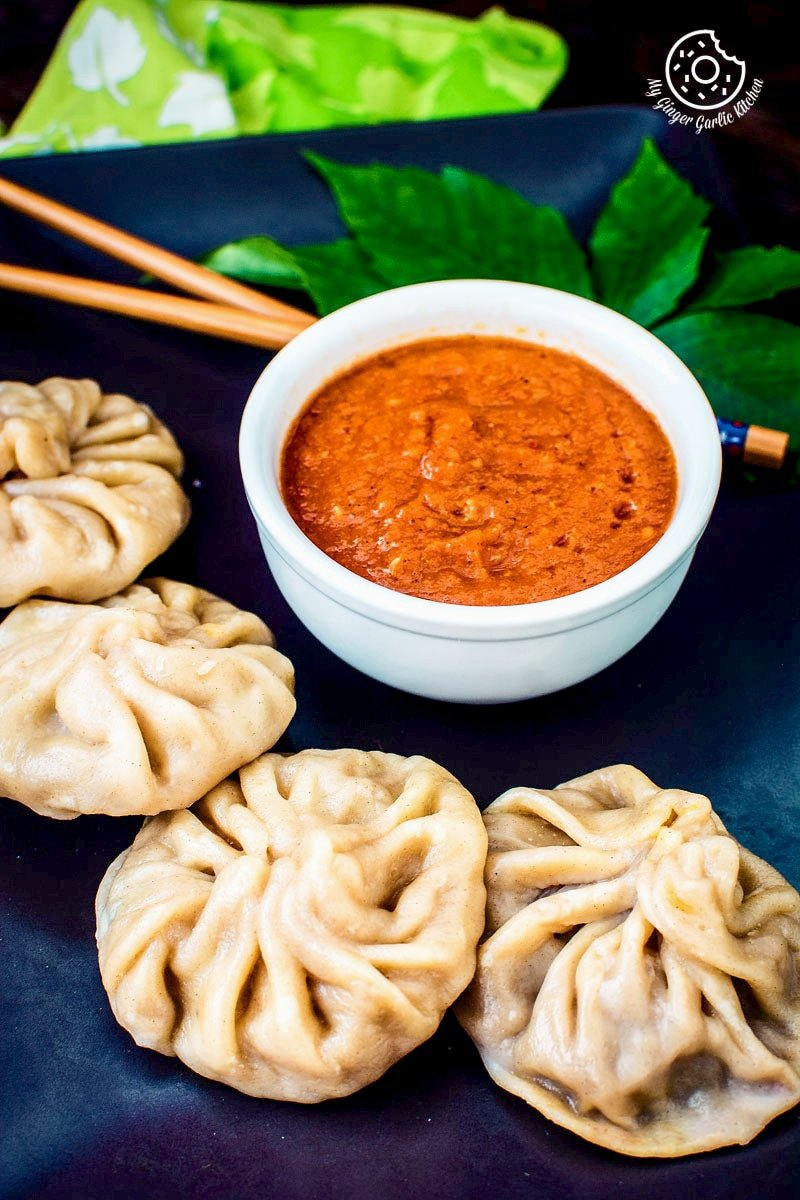 Steamed Veg Momos With Spicy Chili Chutney | Vegetable Momos Recipe | | mygingergarlickitchen.com/ @anupama_dreams
