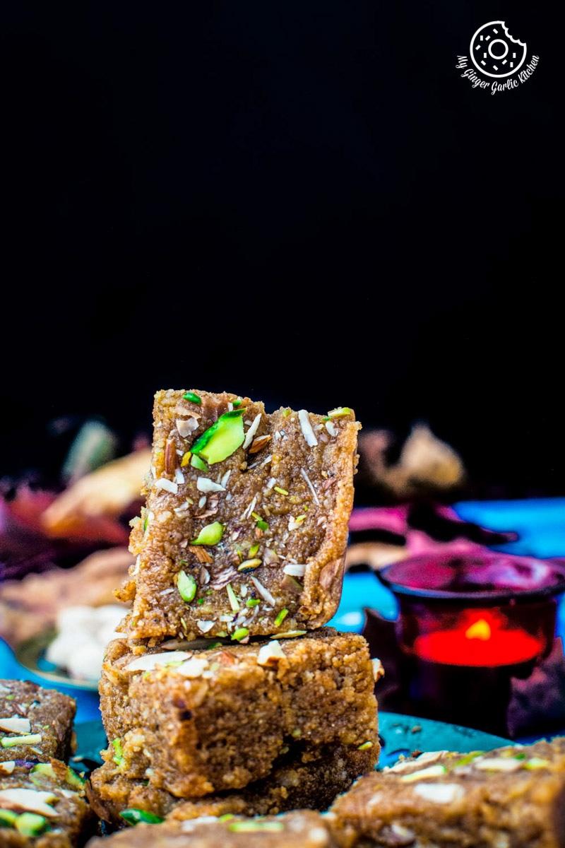 Rajasthani Mohanthal | Gujarati Mohanthal | Mohan Thal-2 Ways Video Recipe | mygingergarlickitchen.com/ @anupama_dreams