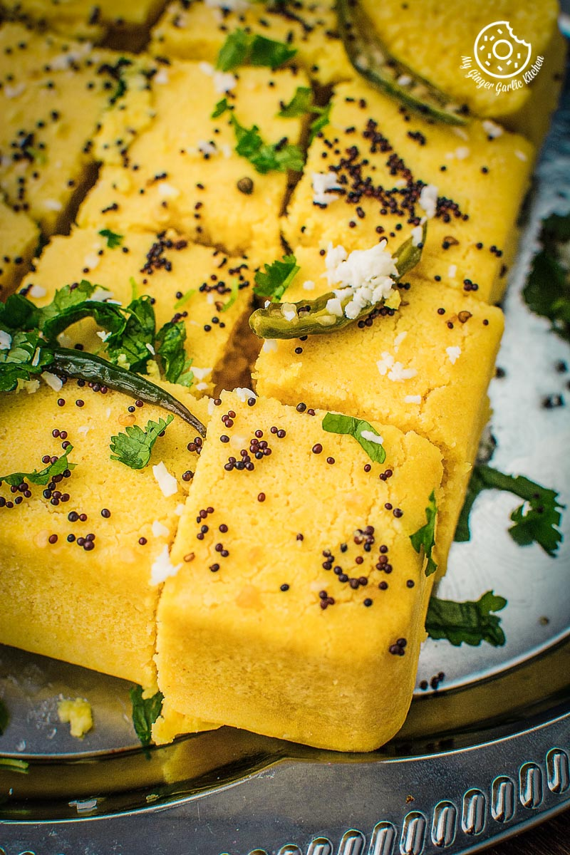 Khaman Dhokla Recipe | How To Make Instant Soft and Spongy Dhokla | mygingergarlickitchen.com/ @anupama_dreams