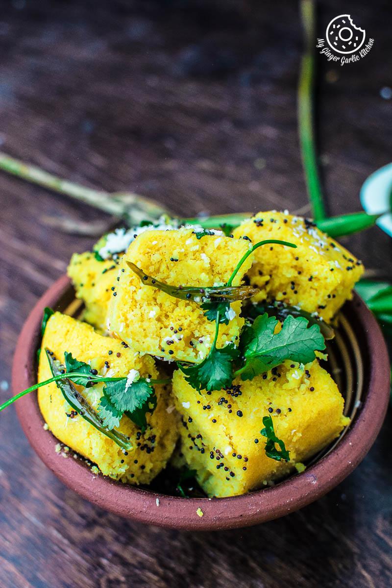 Khaman Dhokla Recipe | How To Make Instant Soft and Spongy Dhokla | mygingergarlickitchen.com/ @anupama_dreams