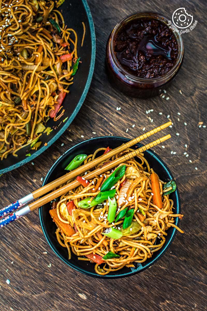 Image - veg chezwan noodles recipe 7