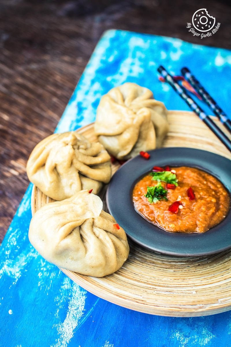 Nepalese Whole Wheat Steamed Veg Momos