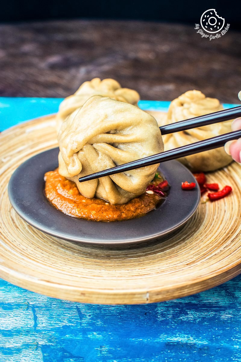Image of Nepalese Whole Wheat Steamed Veg Momos