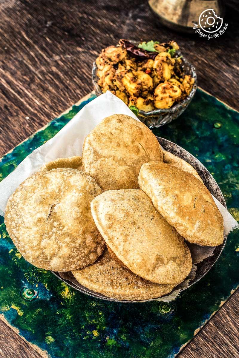 How to make Puri Bhaji | Poori Bhaji Recipe Video| Batata Bhaji Poori Recipe | mygingergarlickitchen.com/ @anupama_dreams