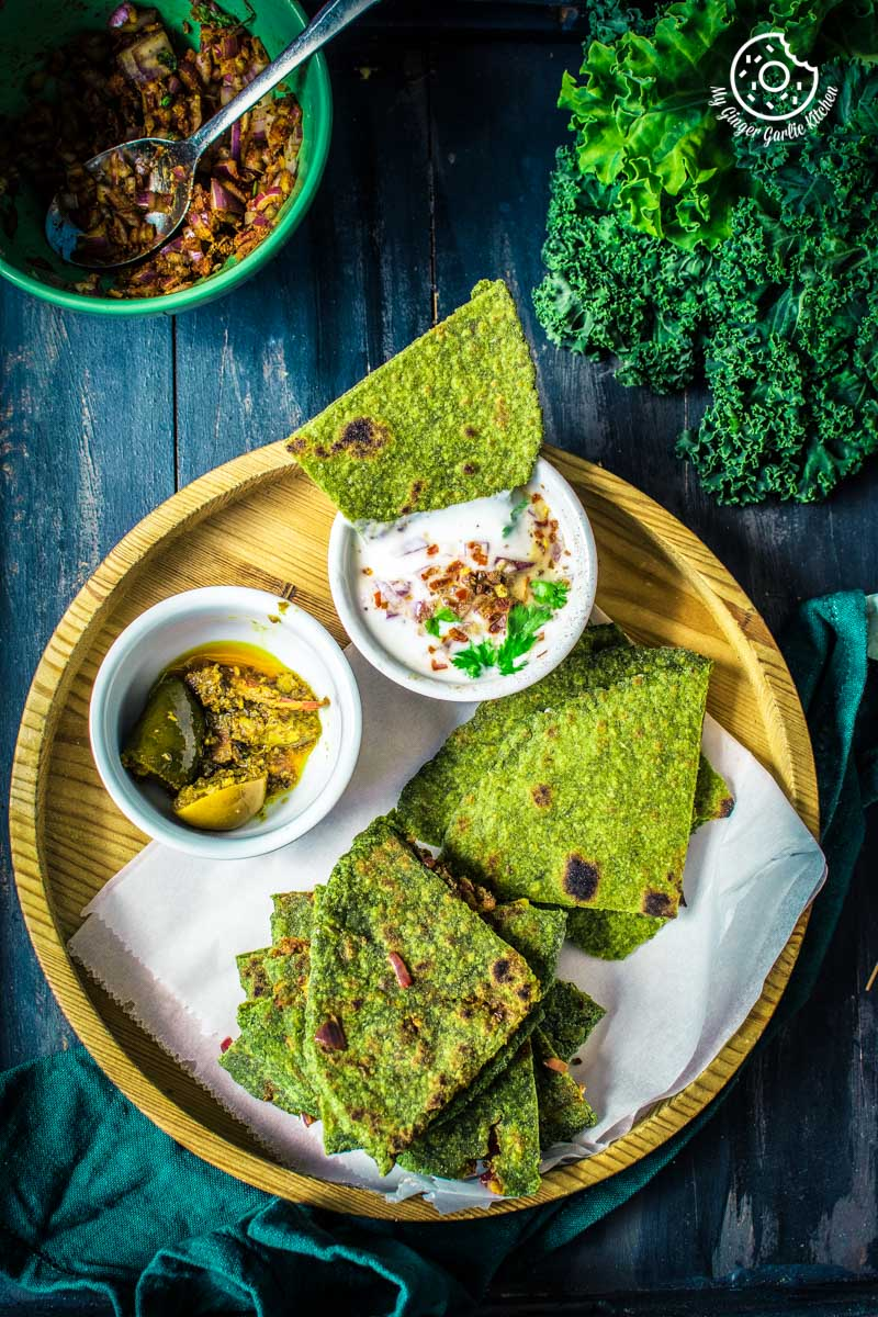 How to make Oats Paratha | Oats Green Paratha - 2 Ways | Oats Onion Paratha | | mygingergarlickitchen.com/ @anupama_dreams