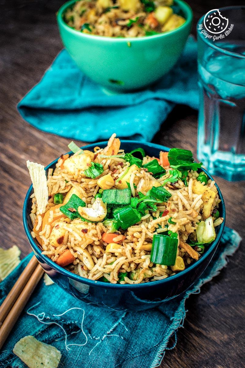 Image of How to make Thai Pineapple Fried Rice – Vegan Recipe