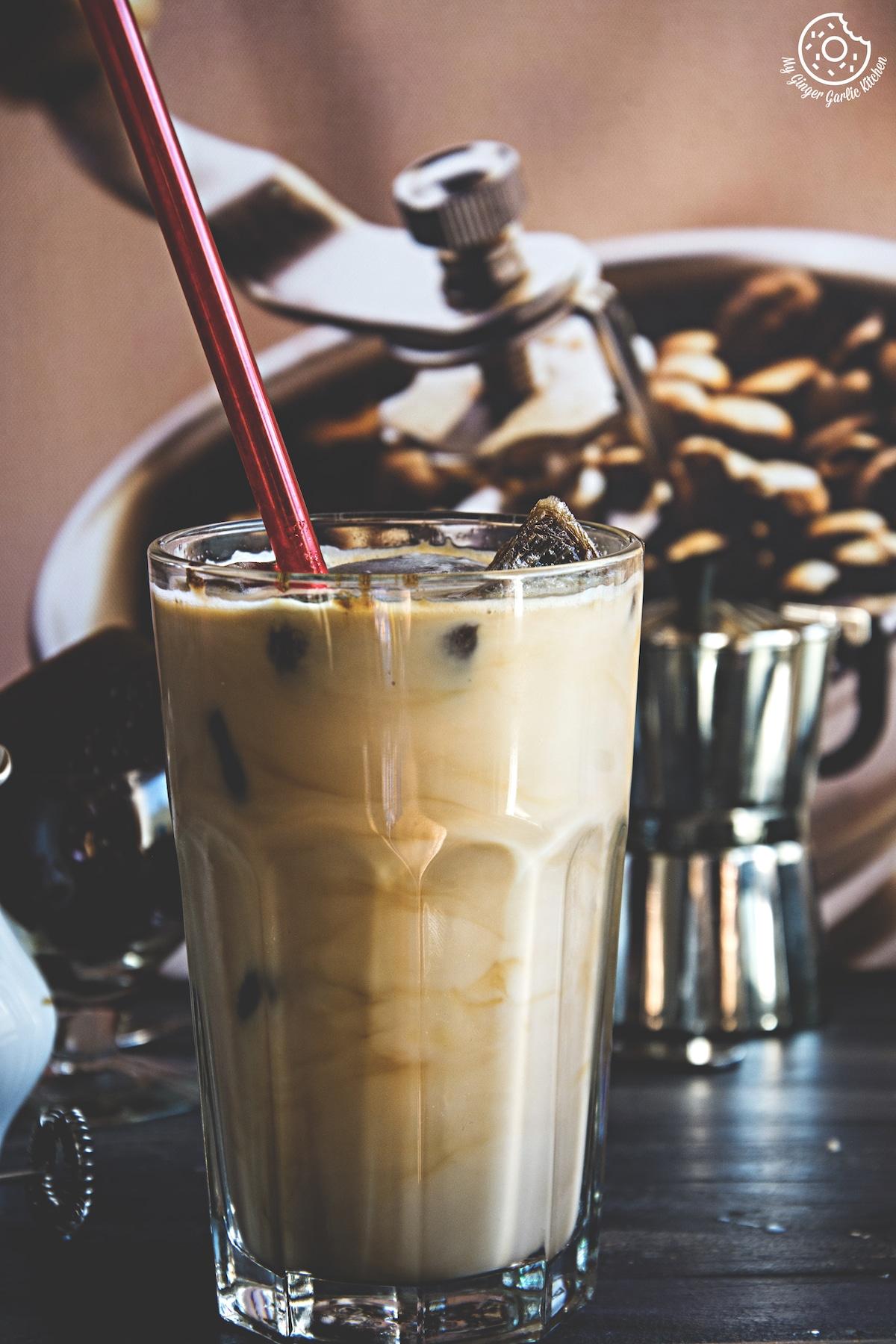 Image - recipes Ice Cubes Vanilla Coffee anupama paliwal my ginger garlic kitchen 1