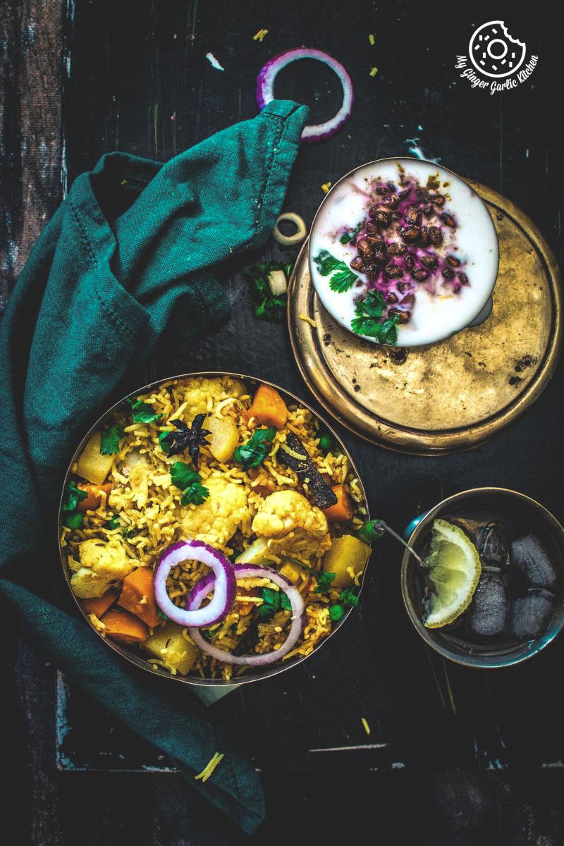 Vegetable tahiri recipe easy to make aromatic one pot for Awadhi cuisine vegetarian